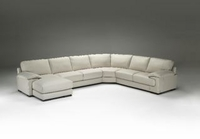 Natuzzi Editions Leather Sectional B684