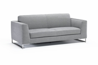 soleto loveseat by Italsofa in dark brown fabric