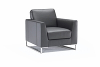 soleto chair by Italsofa in dark brown fabric