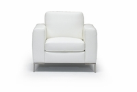 ales italian white leather chair by italsofa