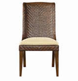 Woven Dining Chair with Wood Legs