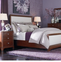 Small Spaces Upholstered Panel Bed
