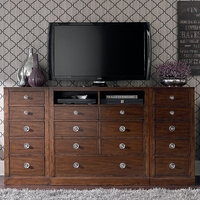 Small Spaces Media Chest with Flanking Cabinets