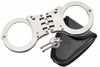 Hinged Hand Cuffs w Holder
