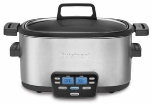 MSC-600 Cuisinart 3-In-1 Cook Central Multi-Cooker: Slow Cooker, Brown/Saute, Steamer