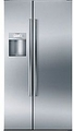 "B22CS80SNS Bosch Energy Star 36"" Linea 800 Series Counter Depth Side by Side Refrigerator with Dispenser - Stainless Steel"