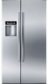 "B22CS30SNS Bosch Energy Star Linea 36"" 300 Series Counter Depth Side by Side Refrigerator with Dispenser - Stainless Steel"