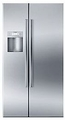 "B22CS50SNS Bosch Energy Star 36"" Linea 500 Series Counter Depth Side by Side Refrigerator with Dispenser - Stainless Steel"