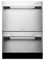DD24DDFTX7 Fisher & Paykel Tall Double DishDrawer with Flat Door and Straight Handle - Stainless Steel