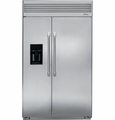ZISP480DXSS GE Monogram Energy Star Professional Built-in Side-by-Side Refrigerator with Dispenser - Stainless Steel