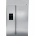 "ZISS480DXSS GE Monogram Energy Star 48"" Built-In Side-by-Side Refrigerator with Dispenser - Stainless Steel"
