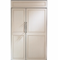 "ZIS480NX GE Monogram 48"" Built-In Side-by-Side Refrigerator - Custom Panel"