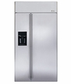 "ZISS420DXSS GE Monogram Energy Star 42"" Built-In Side-by-Side Refrigerator with Dispenser - Stainless Steel"