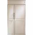 "ZIS420NX GE Monogram 42"" Built-In Side-by-Side Refrigerator - Custom Panel"