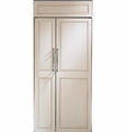 "ZIS360NX GE Monogram Energy Star 36"" Built-In Side-by-Side Refrigerator - Custom Panel"