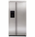 ZFSB23DXSS GE Monogram 23 Cu. Ft. Free-Standing Counter Depth Side-by-Side Refrigerator with Dispenser - Stainless Steel