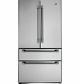 ZFGP21HZSS GE Monogram Counter Depth 20.6 Cu. Ft. French Door Two Drawer Free-Standing Refrigerator - Stainless Steel