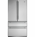 ZFGB21HZSS GE Monogram Counter Depth 20.6 Cu. Ft. French Door Two Drawer Free-Standing Refrigerator - Stainless Steel