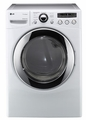 DLGX2651W LG 7.3 Cu. Ft. Ultra Large Capacity Gas Steam Dryer with Dual LED Display - White