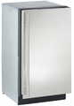 "3018CLRS-00 U-Line 3000 Series 18"" Clear Ice Machine - No Pump - Right Hinge - Stainless Steel"