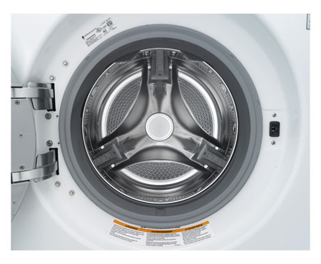 WM2650HWA LG 3.5 Cu. Ft. Extra Large Capacity Front Load Steam Washer with Dual LED Display - White
