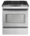 "FPGS3085KF Frigidaire Professional 30"" Slide-In Gas Range with Extra Large Window - Stainless Steel"