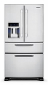 "RDFN536DSS Viking D3 Series 36"" French-Door Bottom-Mount Refrigerator/Freezer - Stainless Steel"