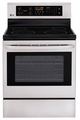 LRE3021ST LG 6.3 cu.ft. Capacity Electric Single Oven Range with 4 Cooktop Elements - Stainless Steel