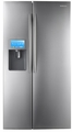 RSG309AARS Samsung 30 Cu. Ft. Side by Side Refrigerator Dispenser LCD Display with Apps - Stainless Steel