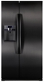 RSG257AABP Samsung 24 Cu. Ft. Counter Depth Side by Side Refrigerator with Ice/Water Dispenser - Black
