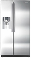 RS267TDRS Samsung 26 Cu. Ft. Side by Side Refrigerator Water and Ice Dispenser - Stainless Steel