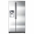 RS265TDRS Samsung 26 Cu. Ft. Side by Side Refrigerator with Dispenser - Stainless Steel