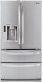 LMX28988ST LG 28 Cu. Ft. Ultra Large 4-Door French Door Refrigerator with Slim SpacePlus Ice System and Tall Ice/Water Dispenser - Stainless Steel