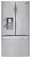 LFX33975ST LG Mega-Capacity 3 Door French Door Refrigerator with Smart Cooling Plus - Stainless Steel