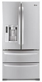 "LMX25988ST LG Ultra-Large Capacity 4 Door French Door Refrigerator with Ice & Water Dispenser (Fits a 33"" Opening) - Stainless Steel"