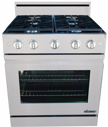 "DR30GFSNG Dacor Distinctive 30"" Freestanding Gas Range with Flush Handle - Natural Gas - Stainless Steel"