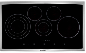 EI36EC45KS Electrolux - Electric Cooktop - Black with Stainless Trim