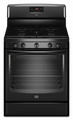 MGR8674AB Maytag 5.8 Cu. Ft. Gas Range with Speed Heat and Power Cook Burners - Black