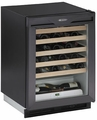1175WCB-00 U-Line 1000 Series Undercounter 48 Bottle Wine Captain - Black - Field Reversible