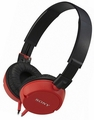 MDR-ZX100/RED Sony Monitor Stereo Headphones with Pressure Relieving Earpads - Red