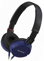 MDR-ZX100/BLU Sony Monitor Stereo Headphones with Pressure Relieving Earpads - Blue