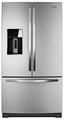 WRF989SDAF Whirlpool (R) 29 cu. ft. French Door Refrigerator with the Most Fresh Food Capacity Available - Mono Satina Steel