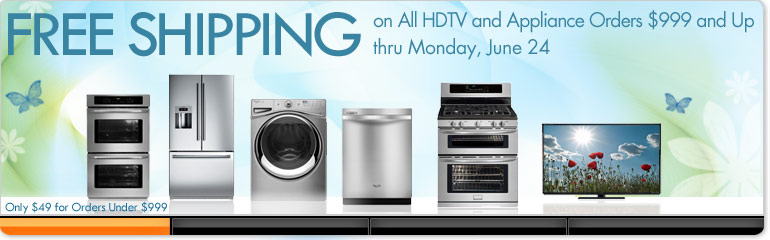 Free Delivery On All HDTVS + Appliances