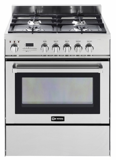 "VEFSGE304PSS Verona 30"" Self Cleaning Dual Fuel Range - Stainless Steel"