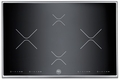 "P304IX Bertazzoni Built-in Designer Series 30"" Cooktop - 4 Induction Zones - Black with Stainless Trim"