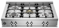 "CB36500X Bertazzoni Professional Series 36"" 5-Burner Range Top - Stainless Steel"