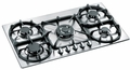 "P34500X Bertazzoni Modular 34"" Gas Cooktop with Five Burners - Stainless Steel"