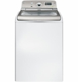 GTWN8250DWS GE 4.8 Cu. Ft. Capacity Washer - White on White with Silver Backsplash