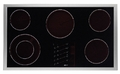 "ETT3652S Dacor Renaissance 36"" Electric Touch Top 5 Element Cooktop - Black with Stainless Trim"
