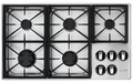 "RGC365SLP Dacor Renaissance 36"" Liquid Propane Gas Cooktop - Stainless Steel"